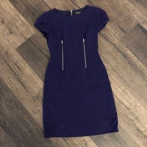 Tahari size 2 PETITE purple dress GORGEOUS
